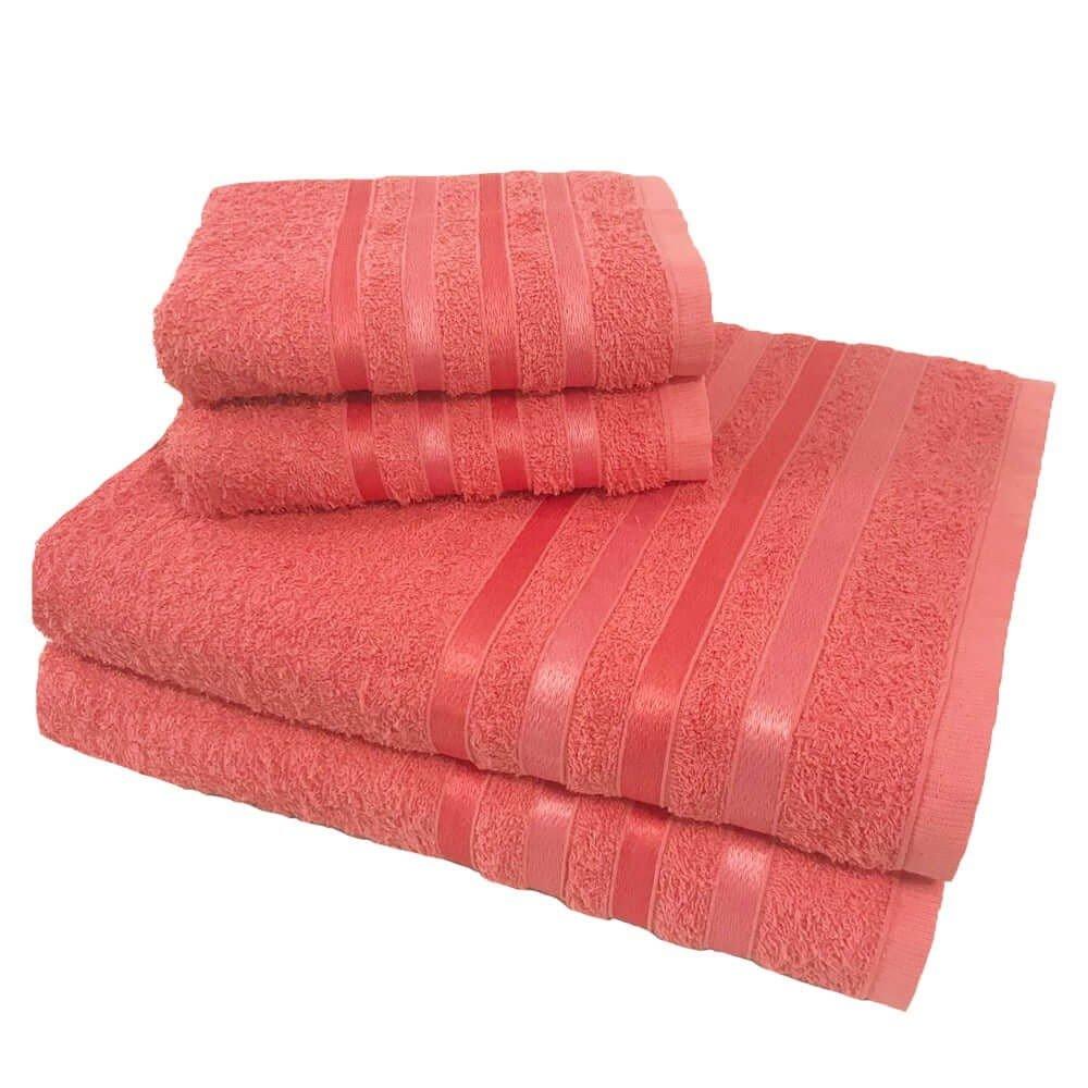 toalha de banho toalha de banho monaco jogo com 4 pecas 2 banho e 2 rosto salmao p 1581594145677