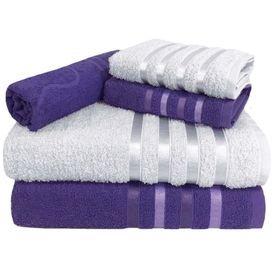toalha de banho toalha de banho monaco jogo com 5 pecas 2 banho 2 rosto 1 piso lilas p 1581596892160