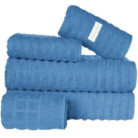 jogo de toalhas 5 pecas fio penteado